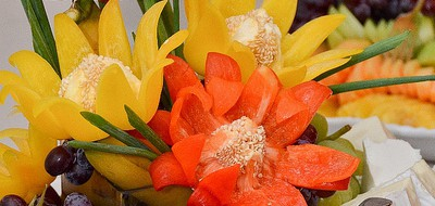 Yellow and orange flowers from the banquet table at ASAN's annual Gala
