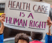 sign saying health care is a human right