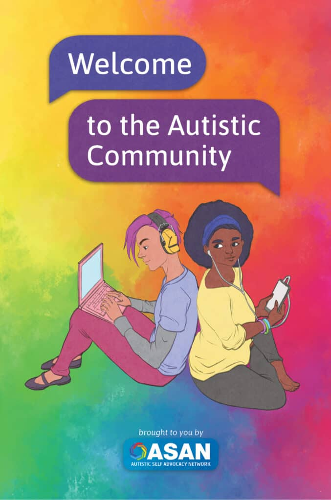 "The cover of ASAN's book ""Welcome to the Autistic Community"""