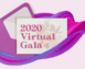 colorful swirls with an invitation that says 2020 Virtual Gala